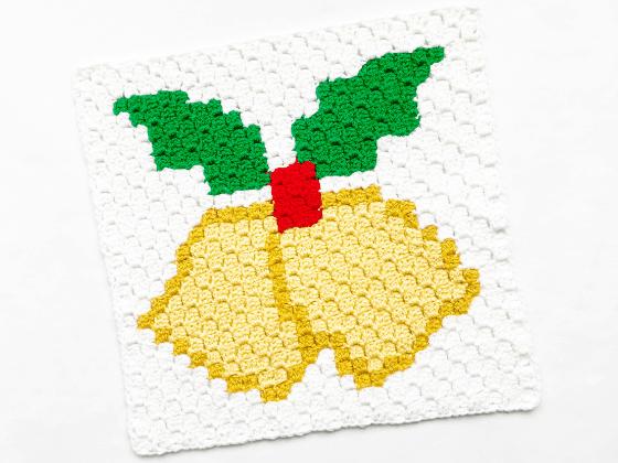 corner to corner jingle bells crochet pattern