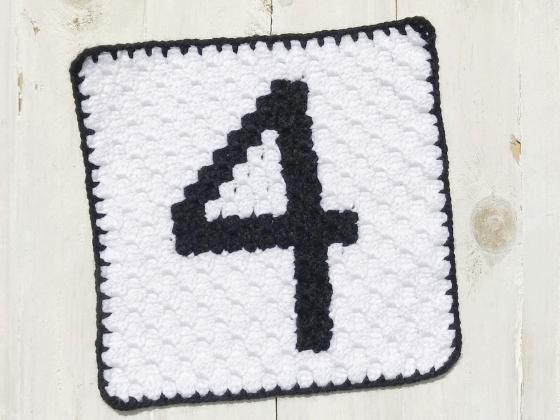corner to corner number four crochet pattern
