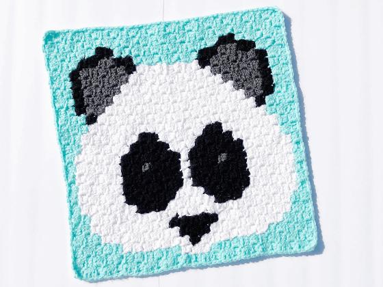 corner to corner panda bear crochet pattern