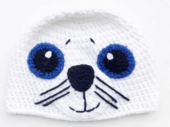 seal hat crochet beanie crochet pattern free