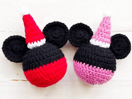 mickey mouse ornament crochet pattern