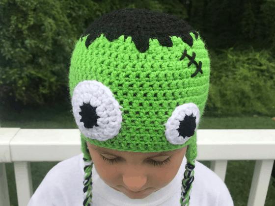 frankenstein hat crochet beanie crochet pattern free
