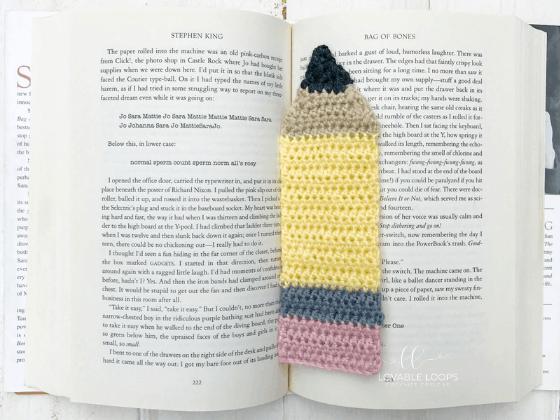 school themed bookmarks  crochet pattern