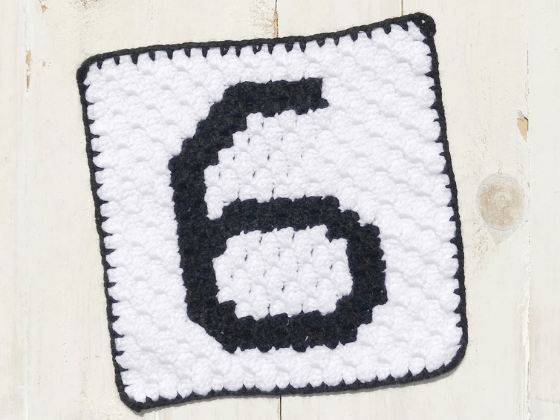 corner to corner number six crochet pattern