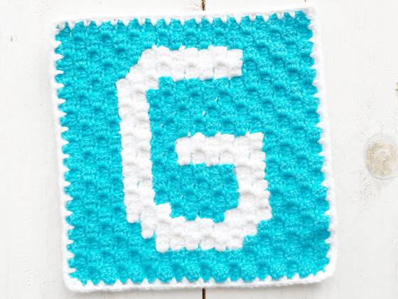 corner to corner letter g crochet pattern
