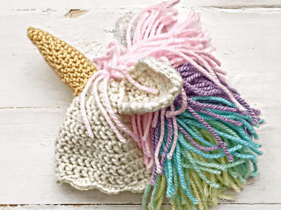unicorn hat crochet beanie crochet pattern free