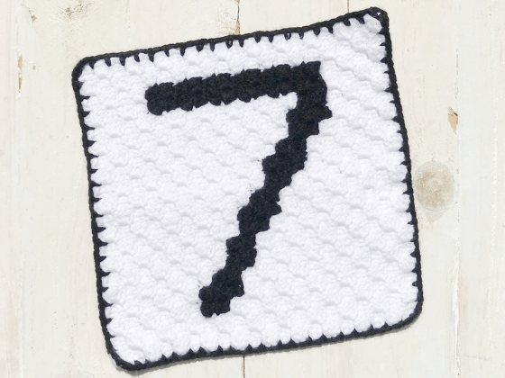 corner to corner number seven crochet pattern
