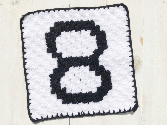 corner to corner number eight crochet pattern