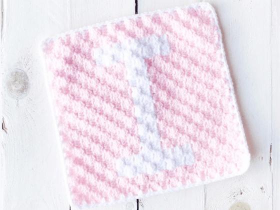 corner to corner letter i crochet pattern
