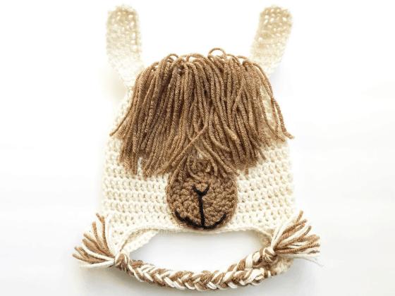 llama hat crochet beanie crochet pattern free