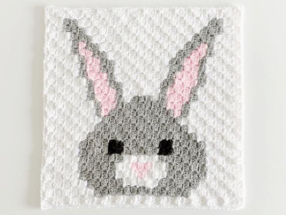 corner to corner bunny crochet pattern