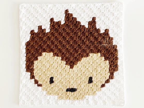 corner to corner hedgehog crochet pattern