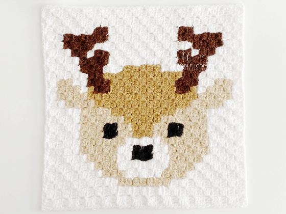 corner to corner deer crochet pattern