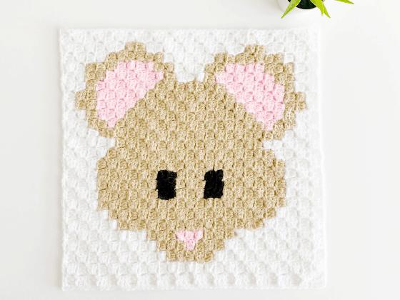 corner to corner mouse crochet pattern