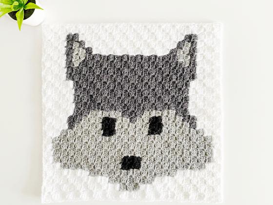 corner to corner wolf crochet pattern