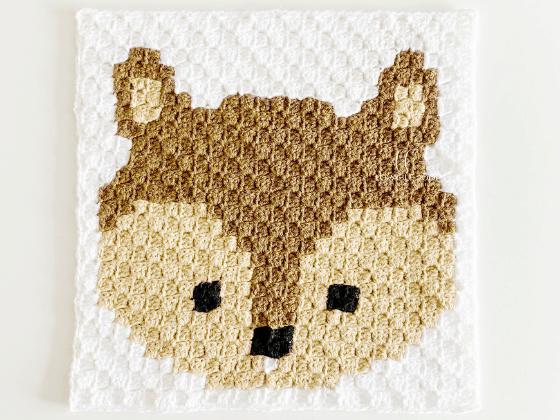 corner to corner squirrel crochet pattern