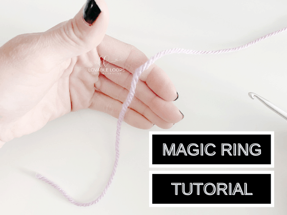 how to make a magic ring for crochet tutorial