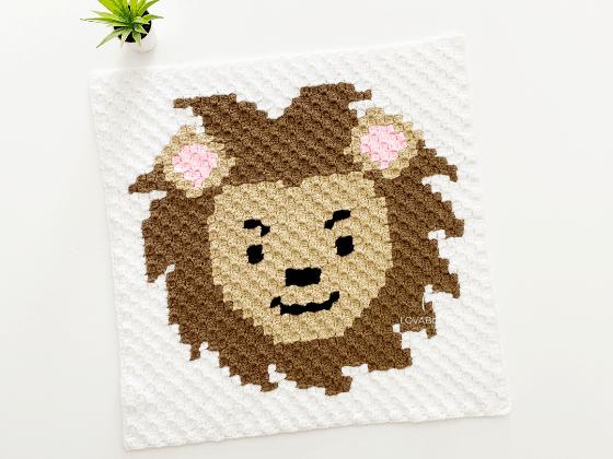 corner to corner lion crochet pattern