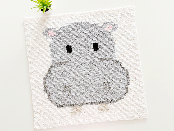 corner to corner hippo crochet pattern