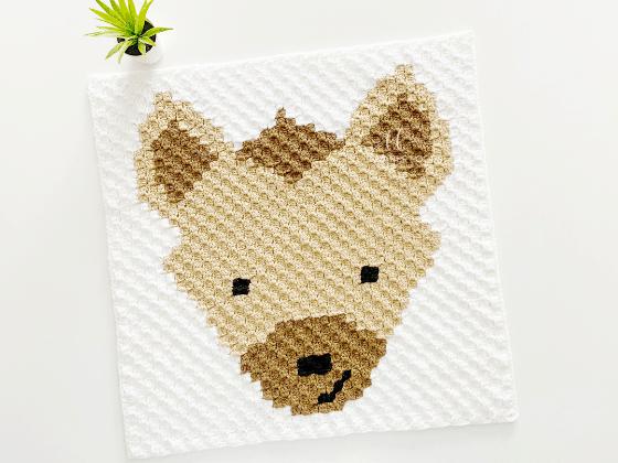 corner to corner hyena crochet pattern