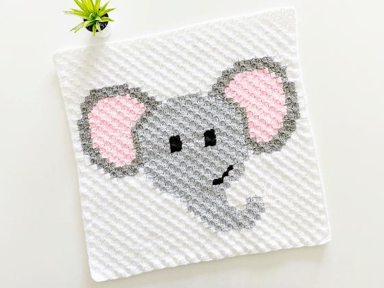 corner to corner elephant crochet pattern