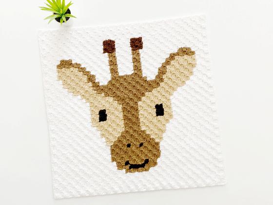 corner to corner giraffe crochet pattern