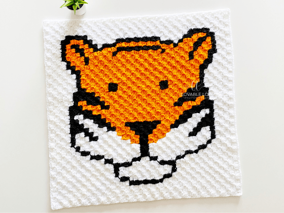corner to corner tiger crochet pattern
