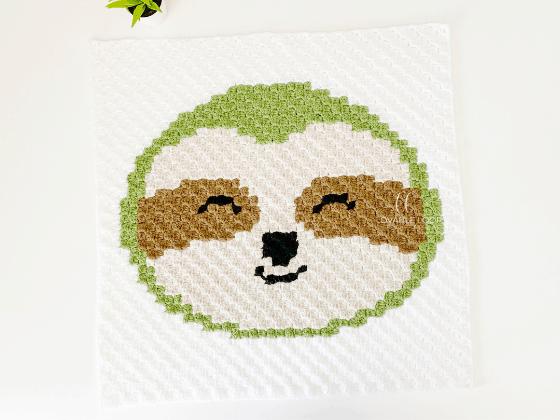 corner to corner sloth crochet pattern