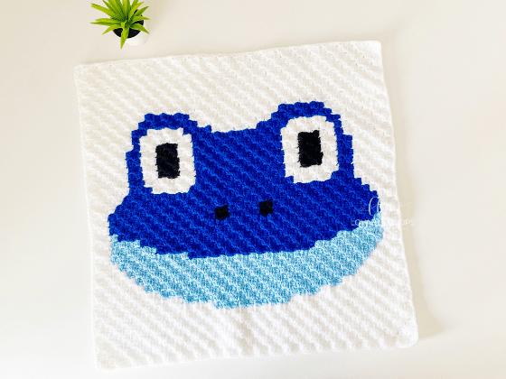 corner to corner frog crochet pattern