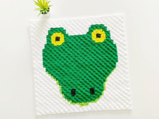 corner to corner alligator crochet pattern