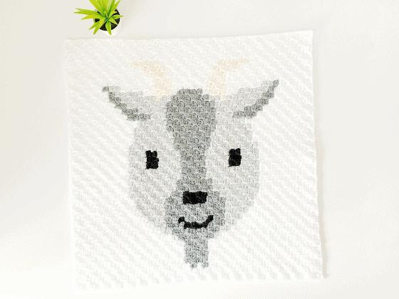 corner to corner goat crochet pattern