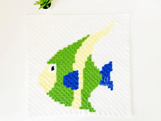 corner to corner fish crochet pattern