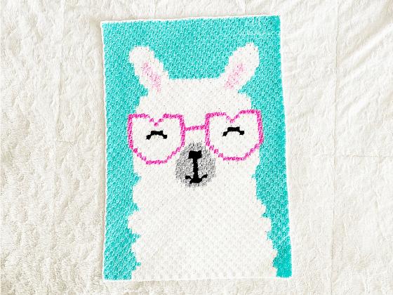 corner to corner llama crochet pattern