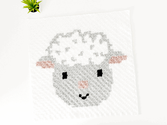 corner to corner sheep crochet pattern