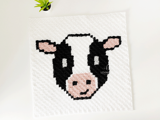 corner to corner cow crochet pattern