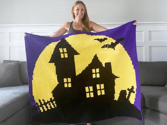 haunted house blanket crochet pattern free