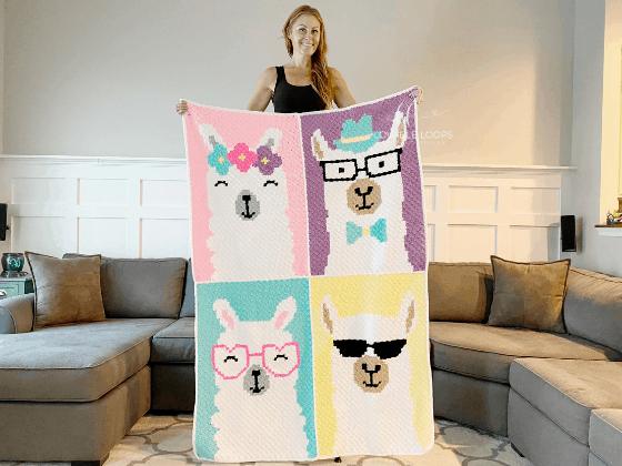 llama blanket crochet pattern free